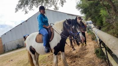 Promenade en cheval sur la Côte sauvage (Belle-Ile-en-Mer)