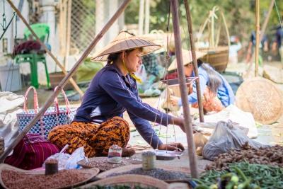 Marché des 5 jours à Mang Thawk