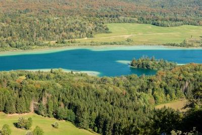 Lac d'Ilay depuis le Pic de l'Aigle