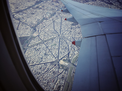 Paris, depuis l'avion